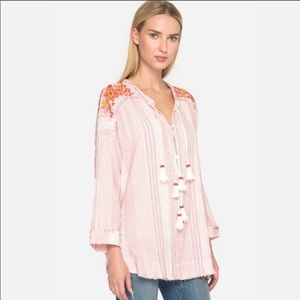 NWT JOHNNY WAS JACQUE Beaded Tunic
